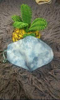 masker tie dye waterproof motif cloudy sky