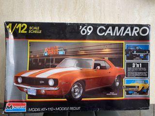 Monogram '69 Chevy Camaro 3 'n 1 model car kit # 2802 1:12 scale