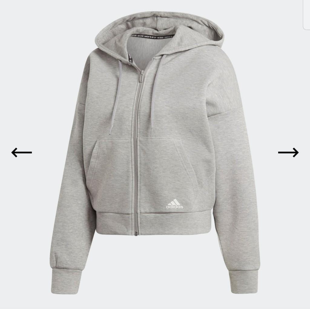 NWOT Adidas Must Have 3 Stripes Hoodie in Light Grey Size XS