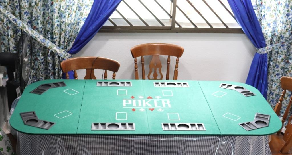 Rental High Quality Foldable Poker Table Top 8 Players Rent Sports Sports Games Equipment On Carousell