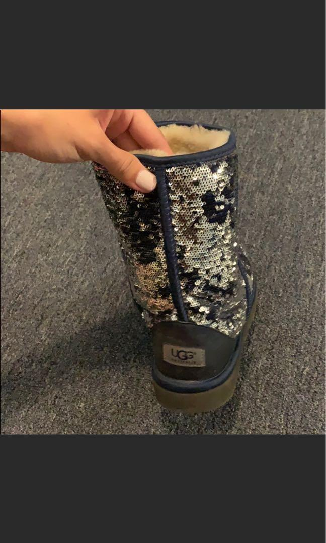 Sequinned uggs