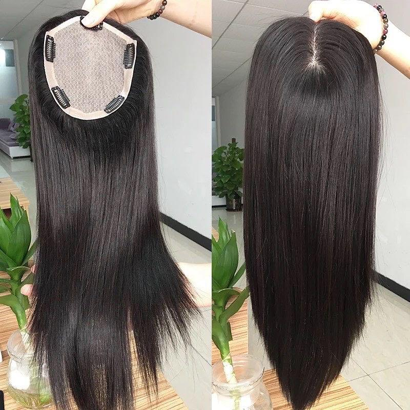 Silk base hair toppers customized