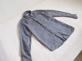 Uniqlo 亞麻襯衫(灰+白)