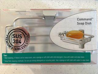 3M command stainless steel soap dish
