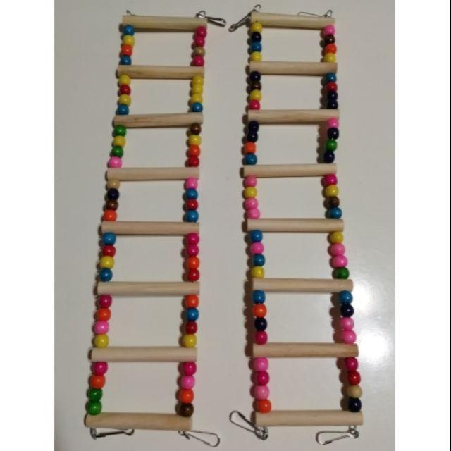 (全新) 鸚鵡玩具 8梯 原木 樓梯 階梯 吊橋