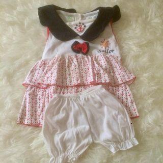 Baju bayi setelan sailor