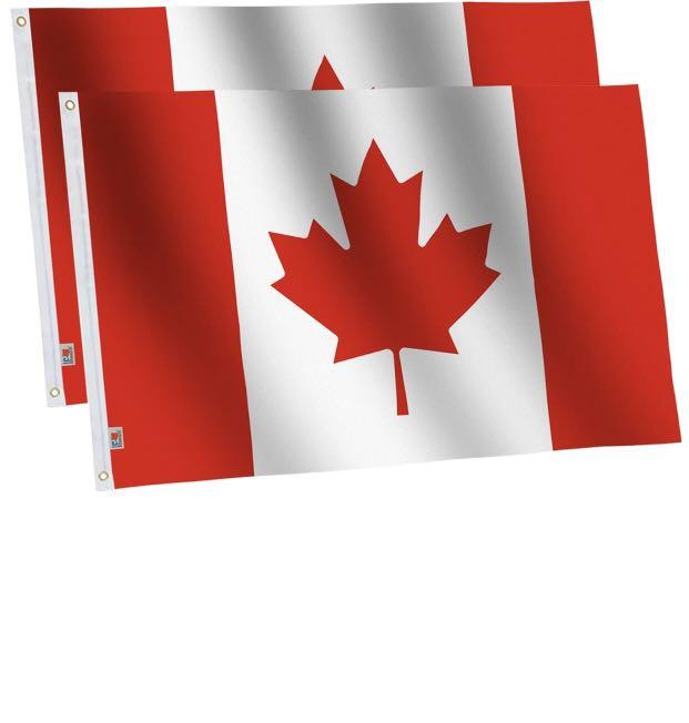 Brand new 2 Pack Canada Flags 3x5Ft Outdoor