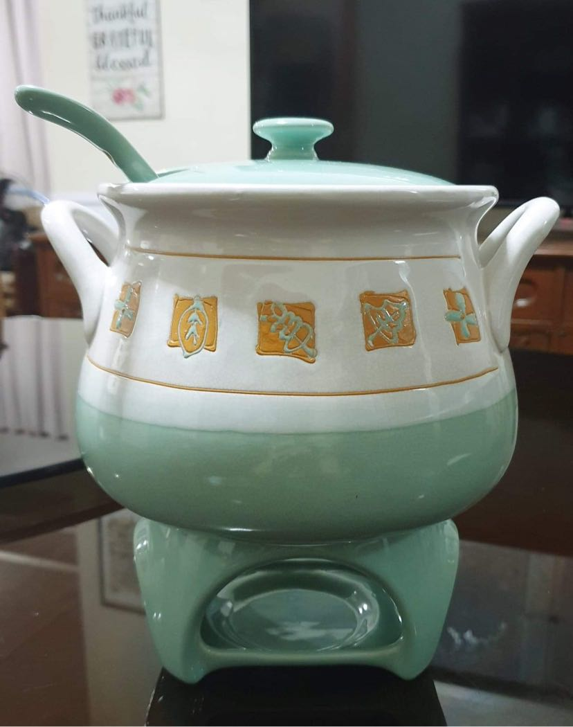 Ceramic Soup Serving Bowl With Warmer Home Furniture Home Appliances Other Kitchen Appliances On Carousell