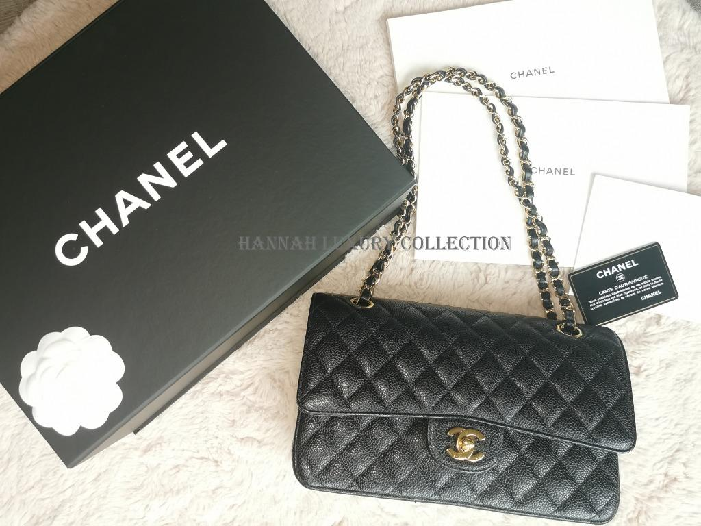 Chanel Classic Medium Flap in Black Caviar with Gold Hardware