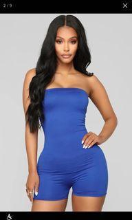 fashion nova blue romper