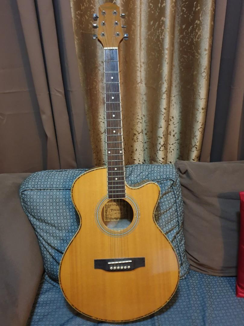 Fernando Wsce F410 Acoustic Guitar Cutaway With Equalizer And Tuner Music Media Music Instruments On Carousell
