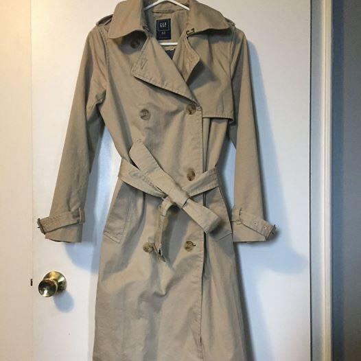GAP Women's Beige Trenchcoat Petite XS