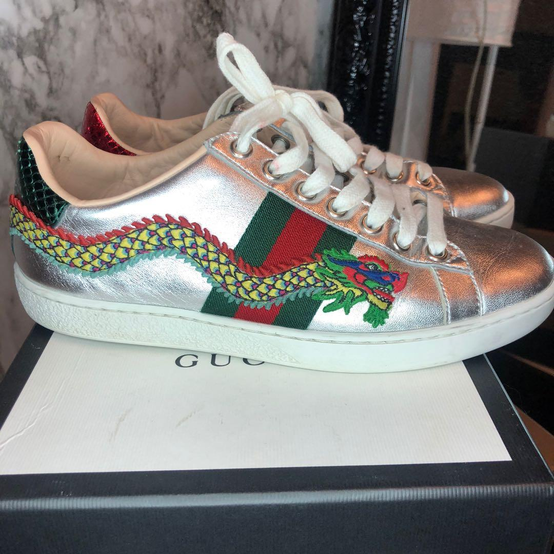 Gucci web ace dragon sneakers