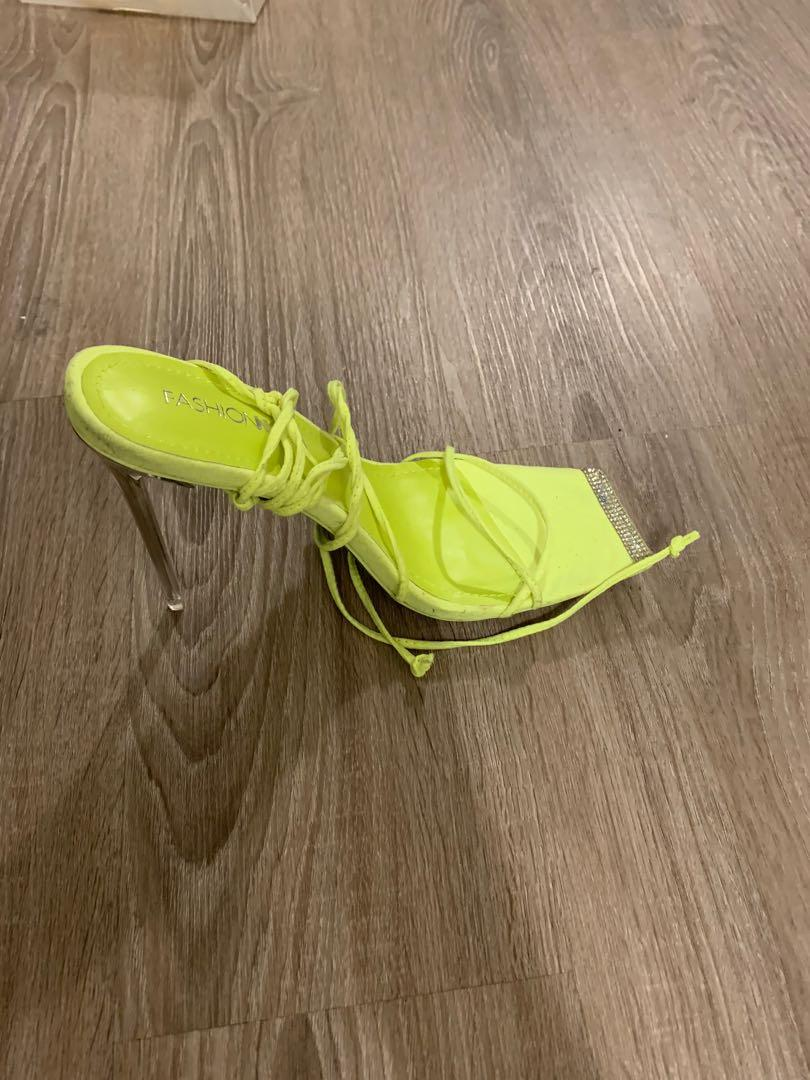Neon Strappy Heels