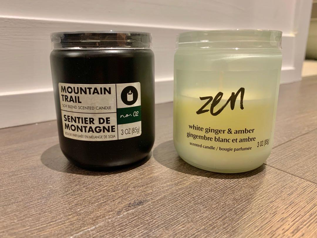 NEW scented glass jar candles
