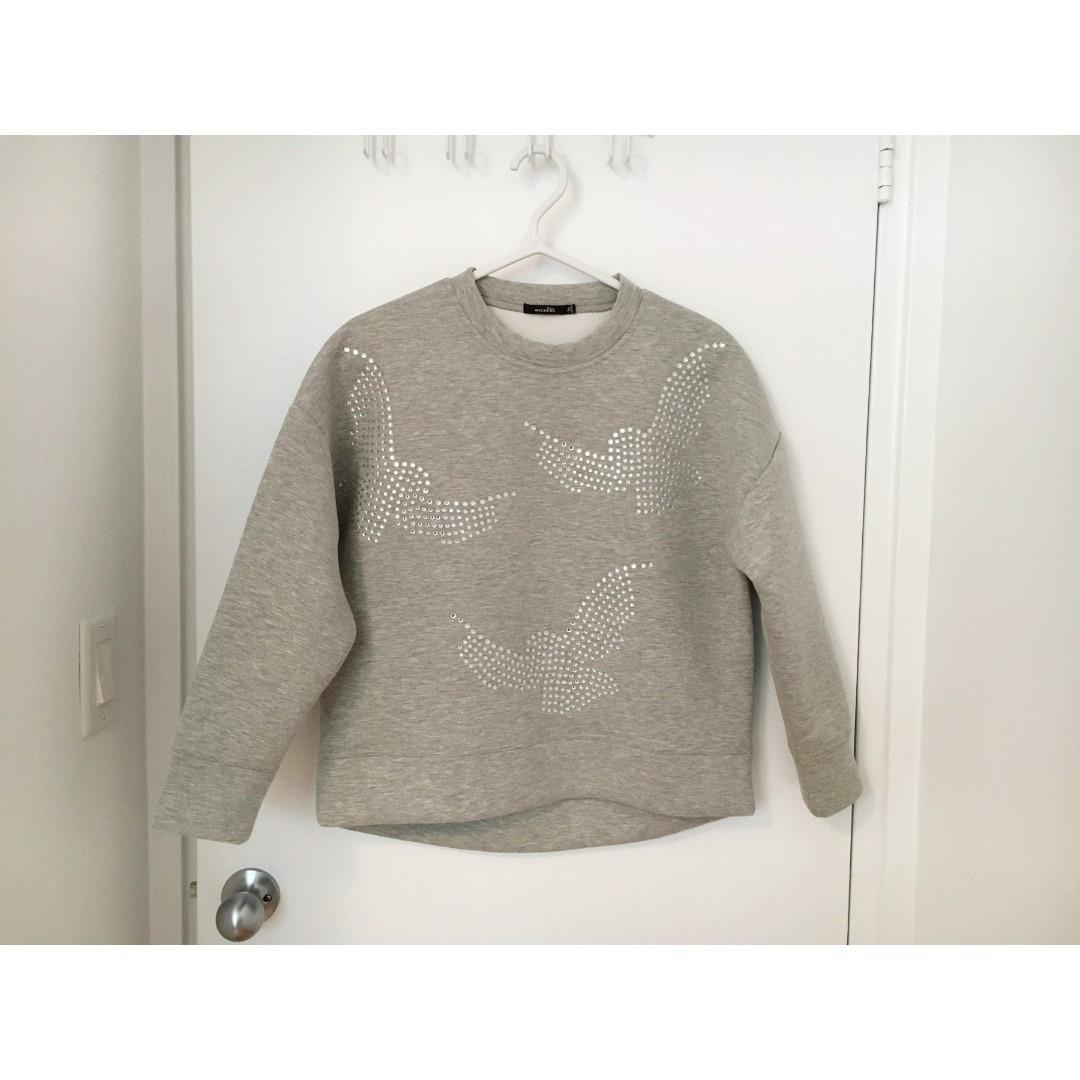 NWOT Korean Scuba Oversized Top/Sweater Size XS/S