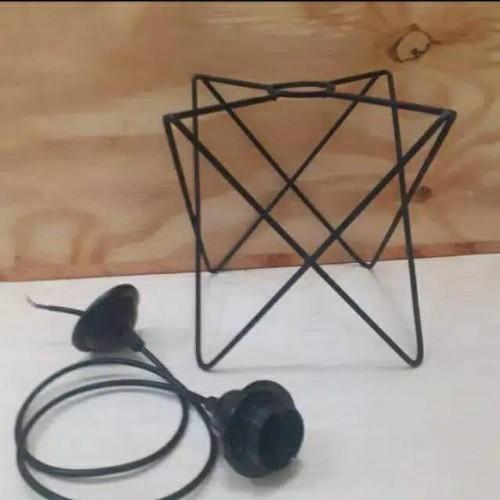 Paket Fitting - Kap lampu gantung mahkota segitiga