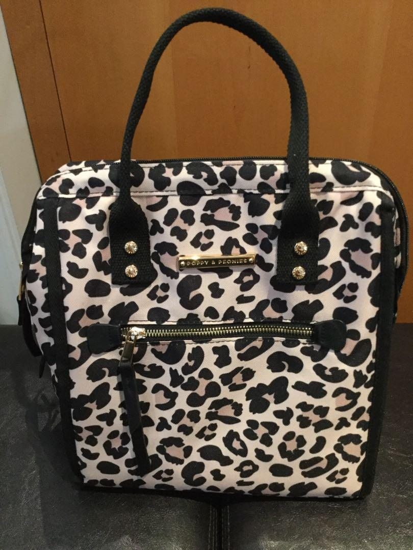 Poppy and Peonies The Lunch Bag Leopard
