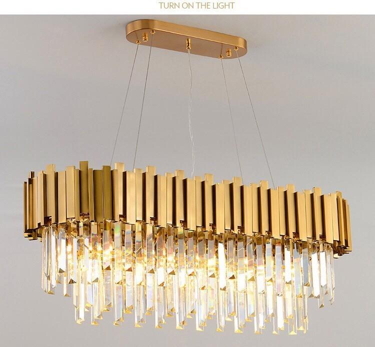 Steel crystal light