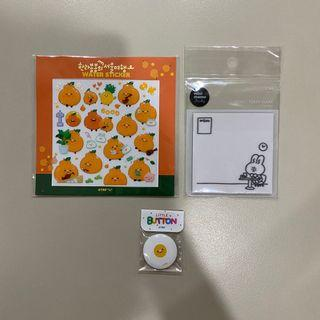 [wts] the recorder factory sticker + post it + pin set