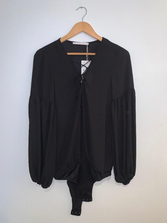 Zara Laced Up Body suit (Size Medium)