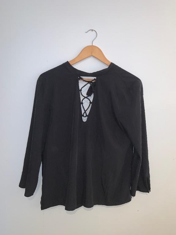Zara Tie front open back top (Medium)