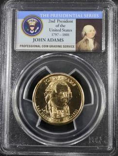 $1 John Adams - Second President of the United States (1797 - 1801)