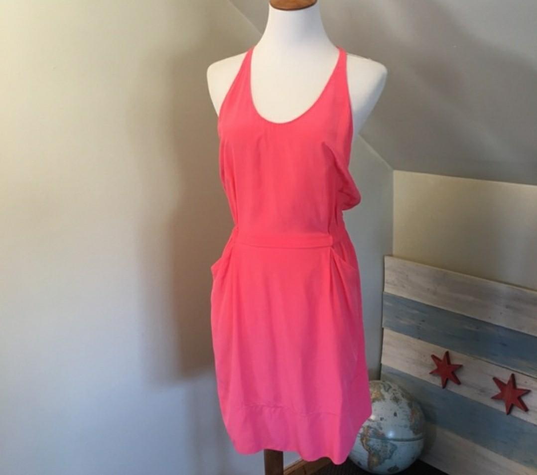 Aritzia Silk Pink Dress (Size S)