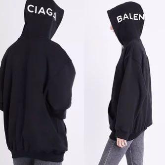 Balenciaga hood logo hoodie, men size S