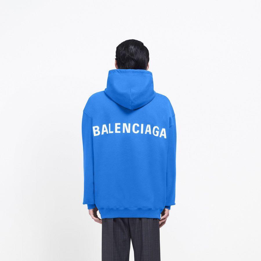 Balenciaga saphir blue hoodie, men size S