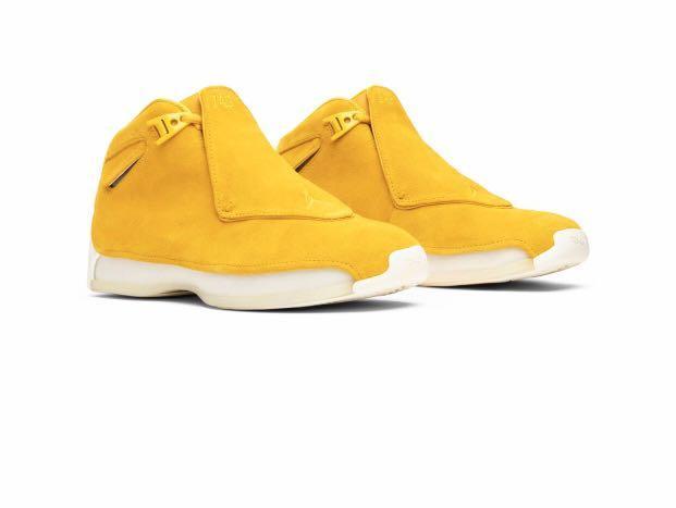 BNIB] Air Jordan 18 Retro 'Yellow Suede