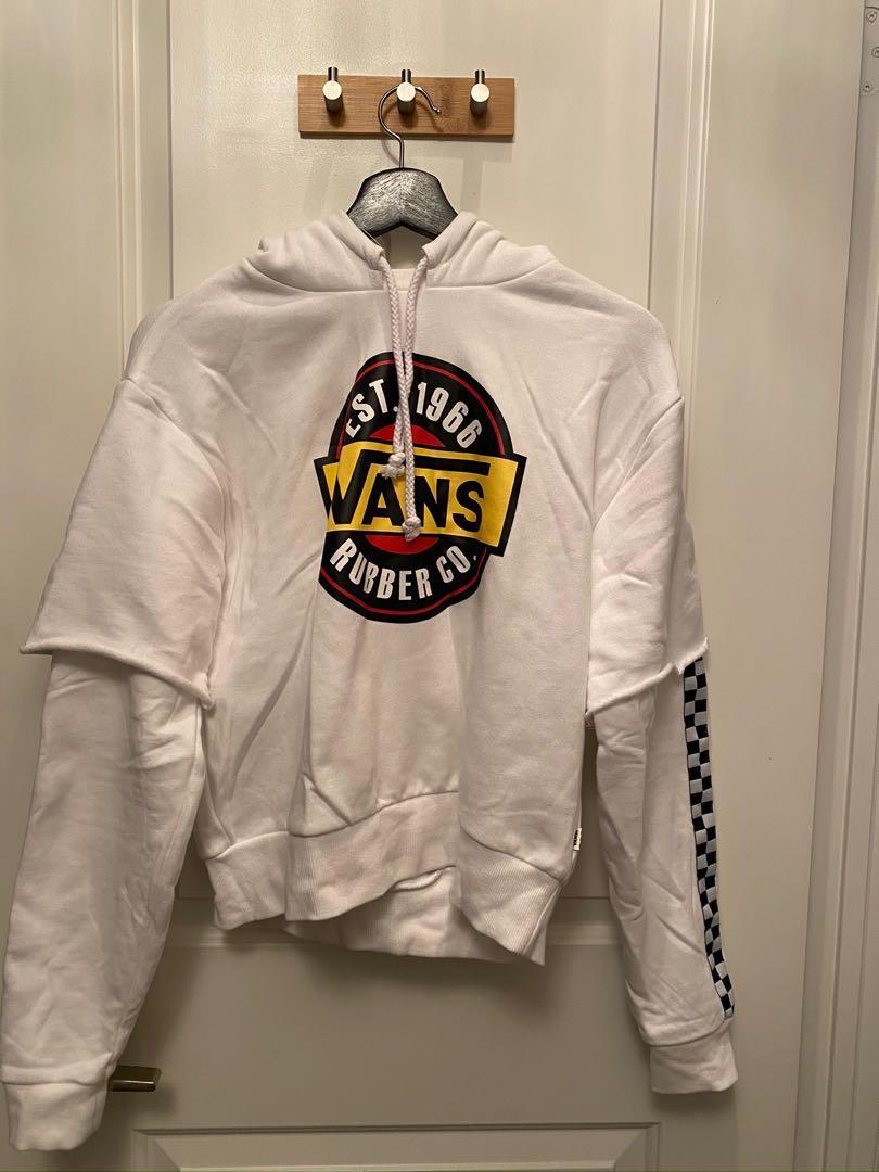 Brand new VANS size S white logo hoodie