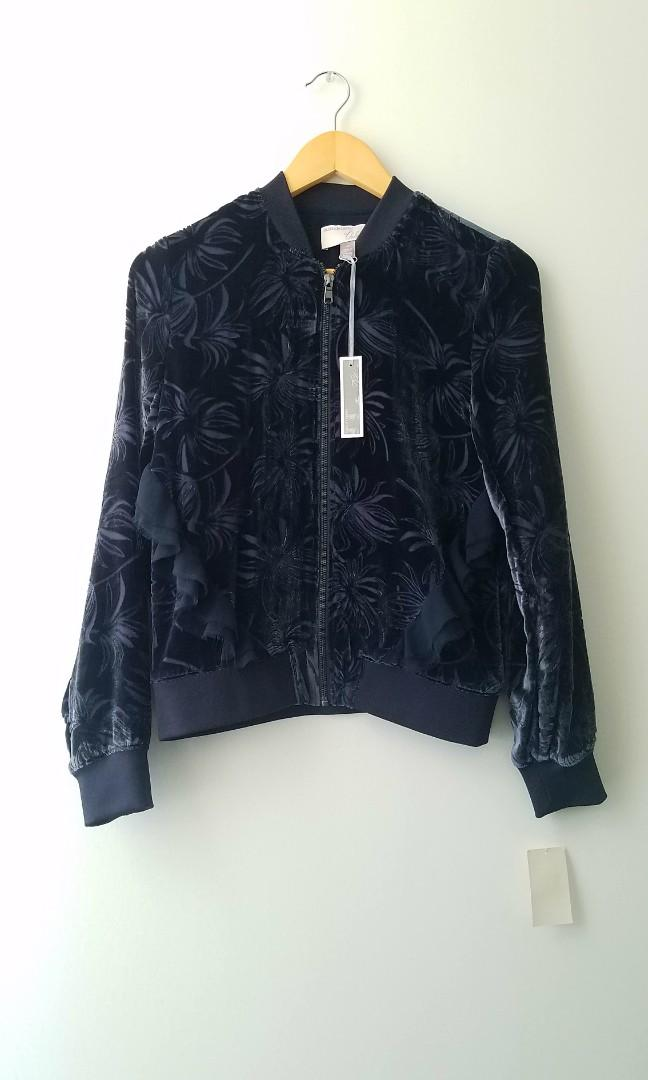 Chelsea 28 by Olivia Palermo Velvet Sapphire Zip Up (Size XS/S)