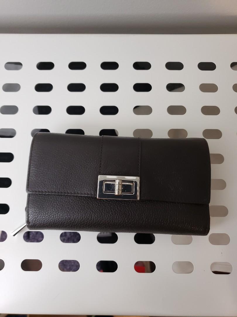 Danier Genuine Leather Wallet in Espresso