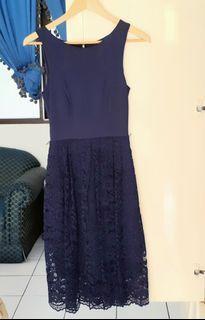 Forever New Elegant Mididress Dark Blue - Preloved