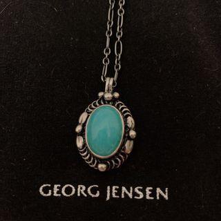 喬治傑生Georg Jensen 1995 HERITAGE 鍊墜 純銀項鍊 天河石