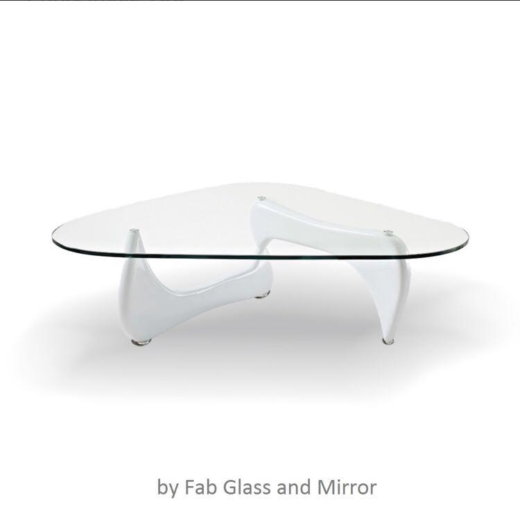Glass topped coffee table, Noguchi style