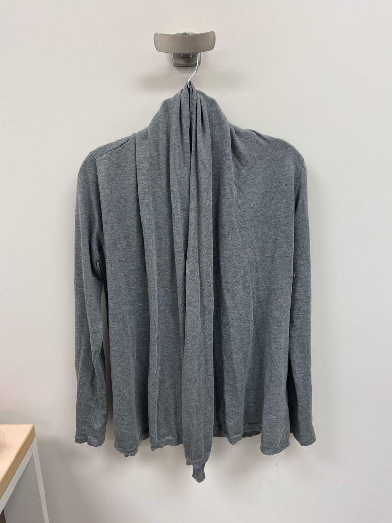 Grey drape-y cardigan