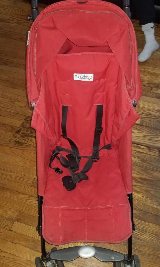 GUC Peg Perego Pliko mini red stroller