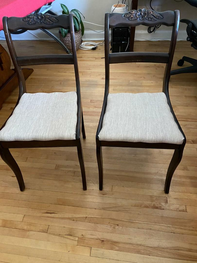 Beautiful Home Accent Chairs (Real Wood)