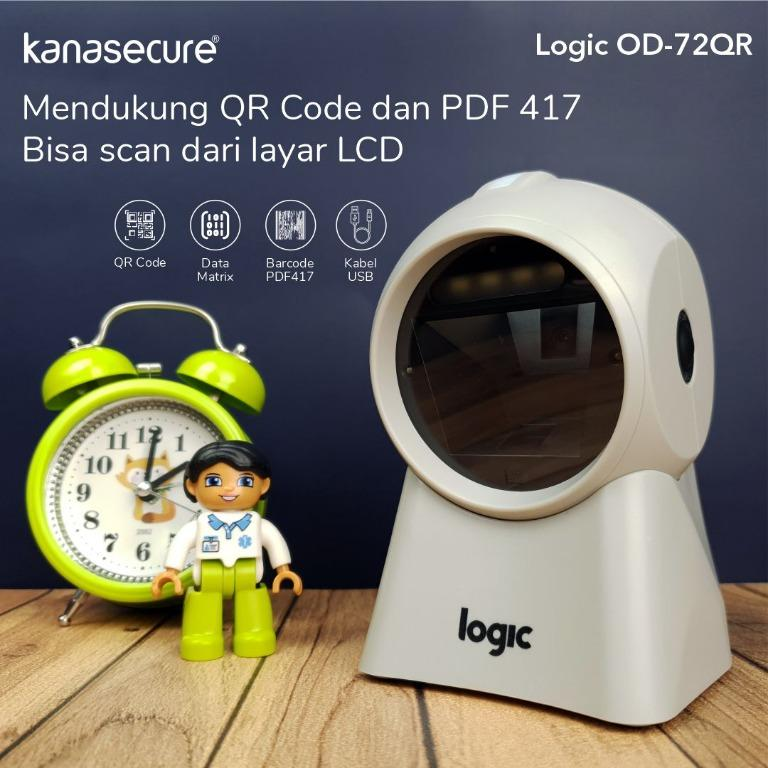 Logic OD-72QR Omnidirectional scanner, 1D and 2D barcode type, Automatic scan mode, USB
