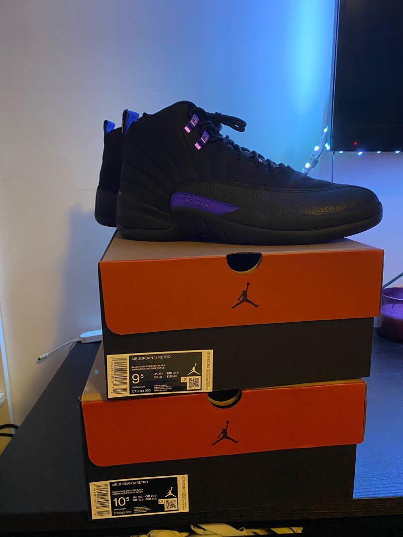 Mens Jordan 12 dark concord