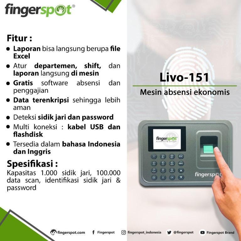 Mesin Absensi Sidik jari Fingerspot LIVO 151