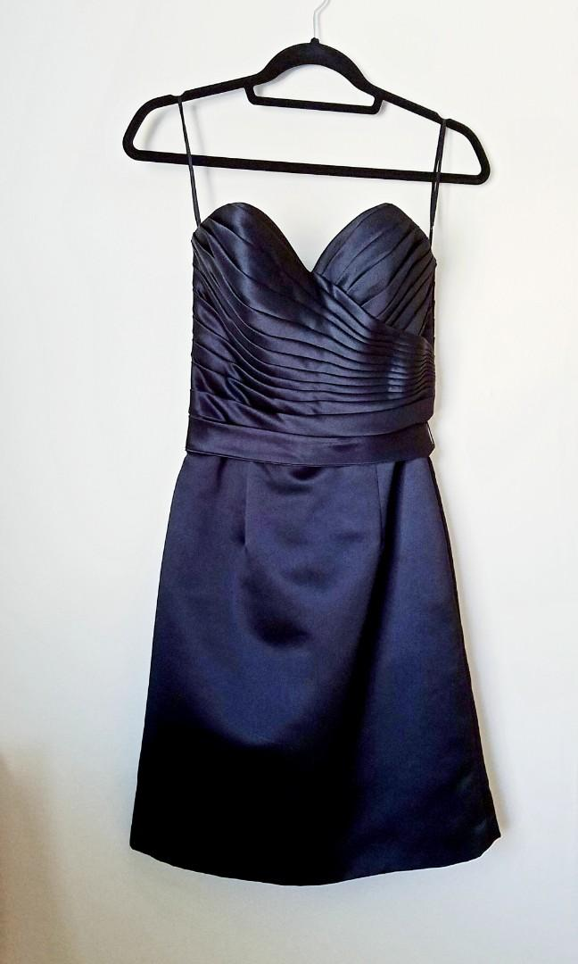 Mori Lee Strapless Sweetheart SATIN Cocktail Dress (Size 6)