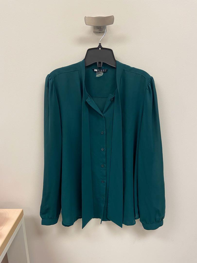 New teal chiffon blouse