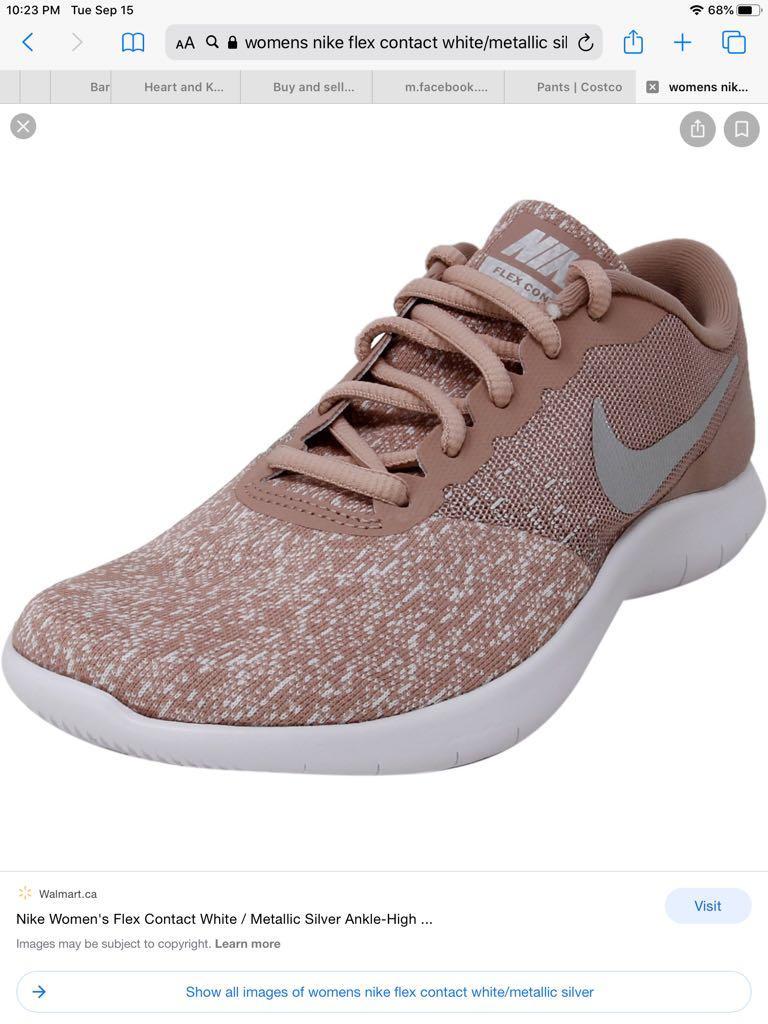 NIKE Women's Flex Contact Shoes, Particle Pink