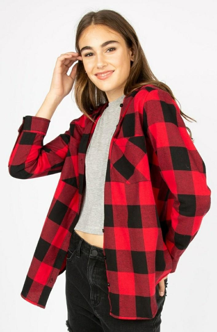 Oversized Thick Flannel Sweater (Size S)