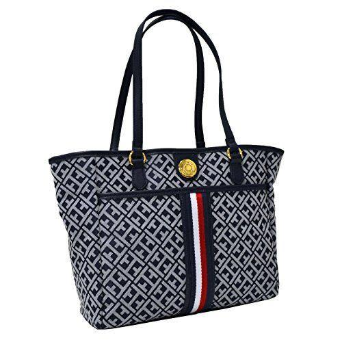 Tommy Hilfiger Tote Purse With Signature Stripe