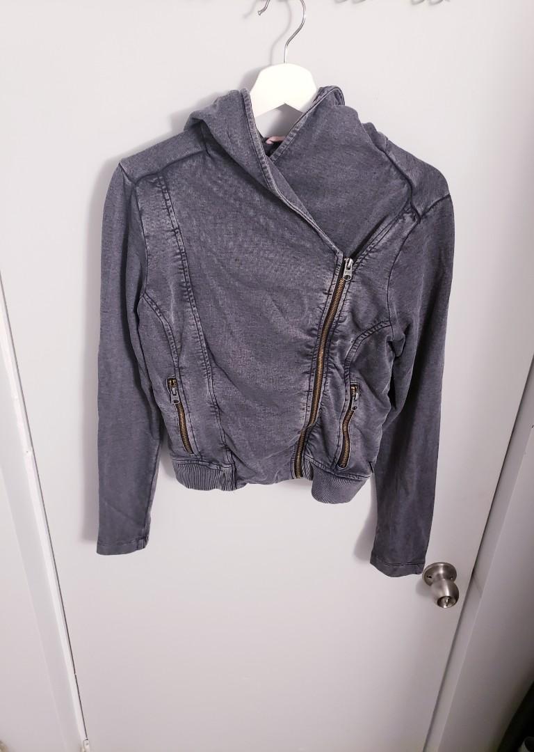 Triple 5 Soul  Charcoal Grey Hoodie Zip Up (Size M)