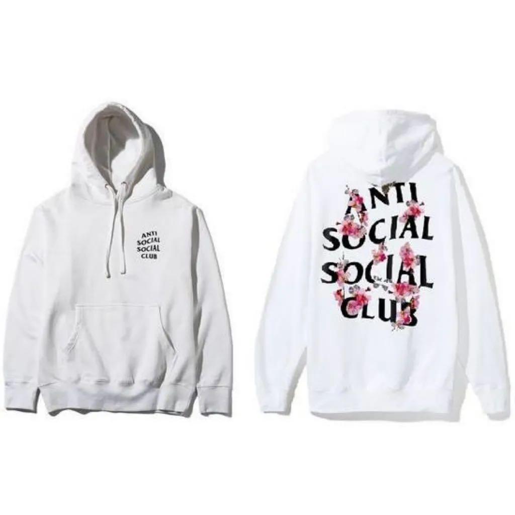 Women ASSC white Kkoch hoodie, size S